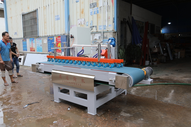 To NanNing city,GuangXi province,Automatic ceramic tile 45 degree cutting machine