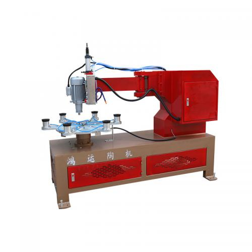 Rock slab basin hole polishing machine
