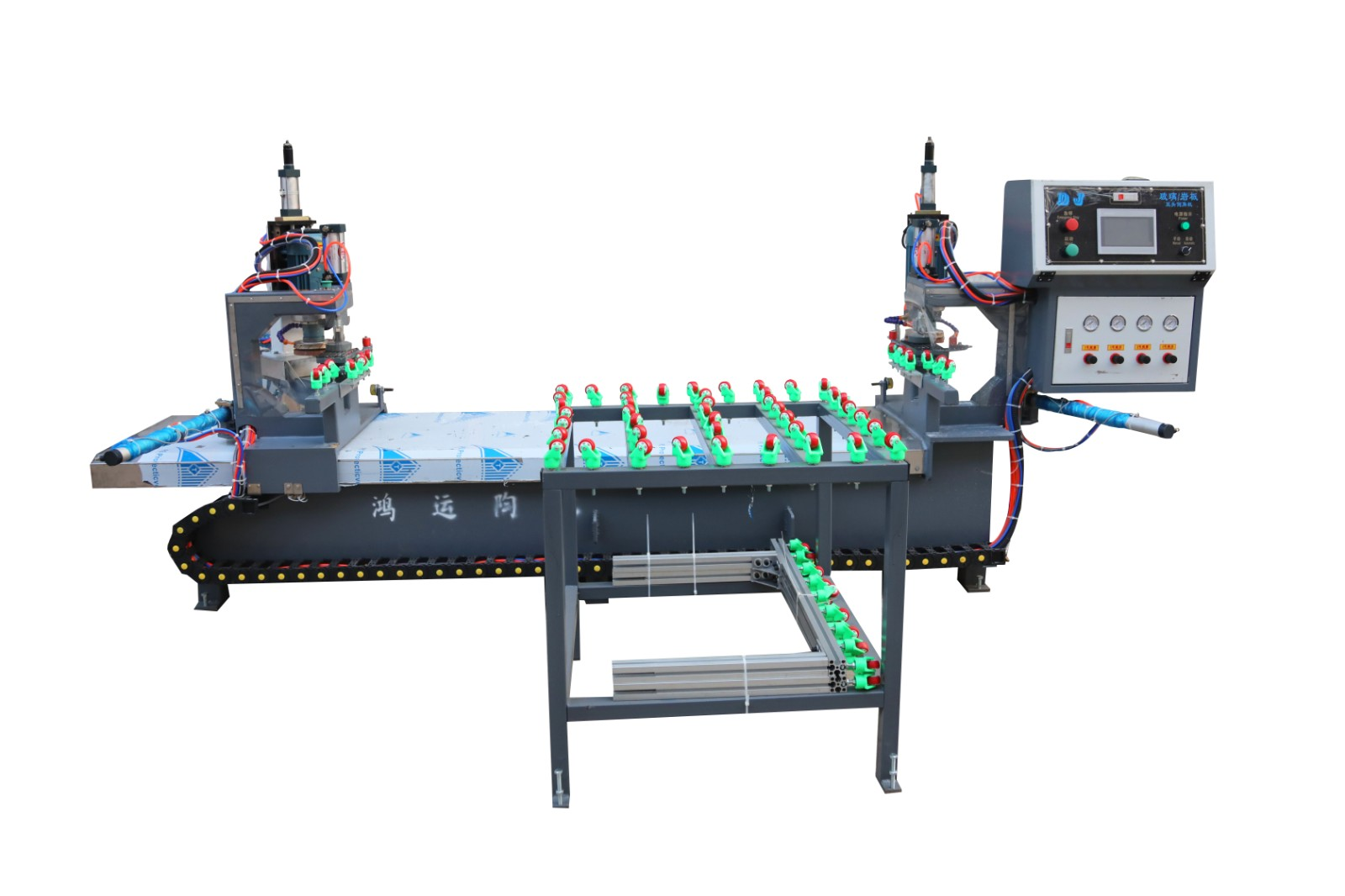Rock slab CNC double head chamfering machine