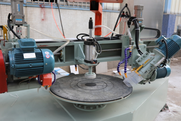 Rock slab cutting and grinding all in one machine
