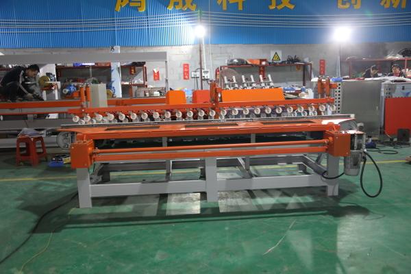 Automatic tile chamfering machine