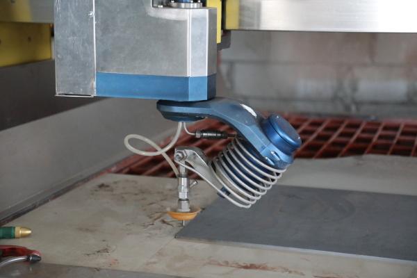 Cutting detail of wanterjet cutting machine
