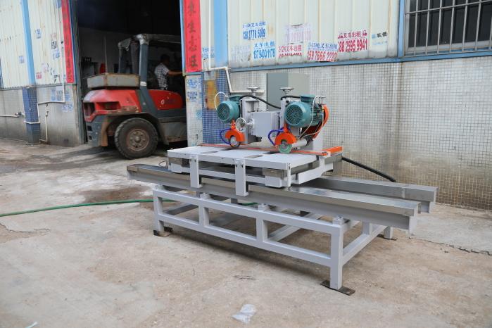 1200 manual double-blade CNC slab cutting machine