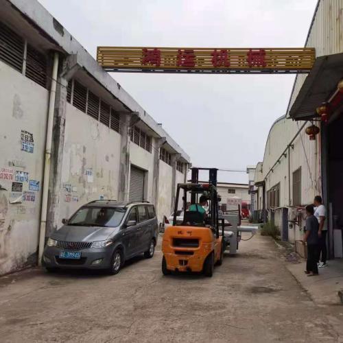 To NanYang city,HeNan province,1800 CNC three blade cutting machine and automatic tile 45 degree cutting machine